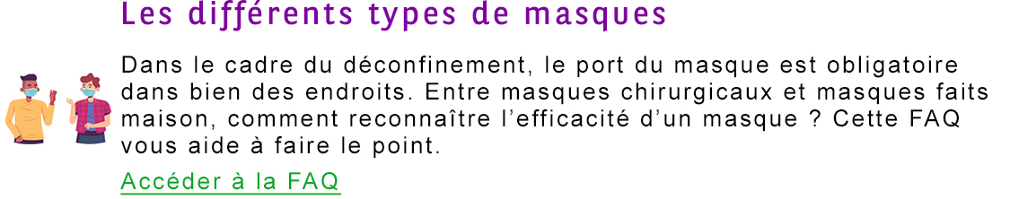 types de masques